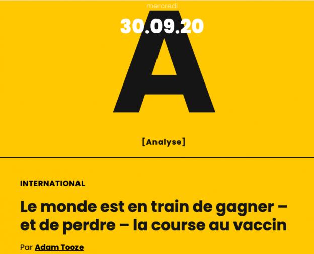 Le monde est en train de gagner – et de perdre – la course au vaccin
